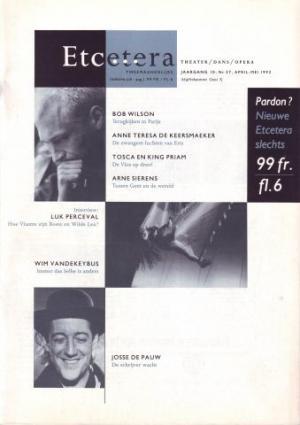 'De meubels van Robert Wilson', nr. 37, april-mei 1992, 42-43 (ook in Etcetera a